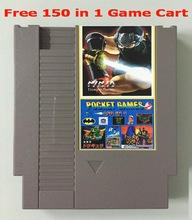 Free 150in1 game card Rockman123456 MarioBros 123  NinjaTurtles Kirby's Adventure, NES 72 Pins Game Cartridge Replacement  Shell