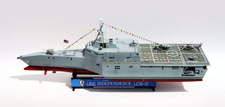 Free Shipping Trumpeter Model,USS Independence LCS 2 1/350 Static Warship,US Navy ship model Cyber Hobby/Bronco LCS-2(China (Mainland))