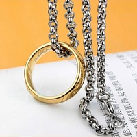 Rings 6mm  Stainless Steel The One Ring Bilbo Hobbit Gold Ring&Chain