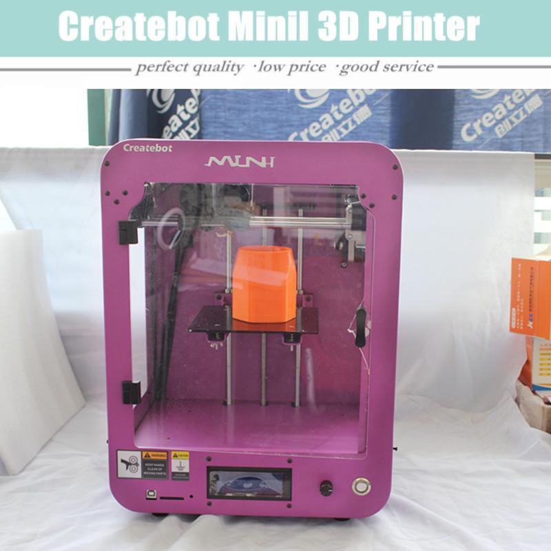 2016 New Design FDM Small 3D Printer Machine In Purple High Quality Precision