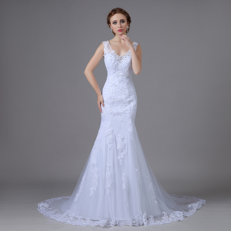 Mermaid wedding dresses 2016 robe de mariage princesse for Shop online wedding dresses