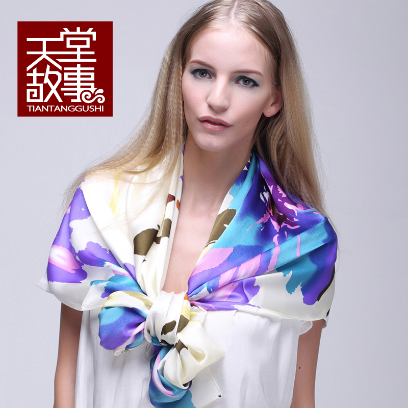 Mulberry silk scarf 2014 spring autumn women's design long silk scarf cape100%pure silk scarf famous brand shawls scarf pashmina(China (Mainland))