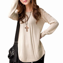 Poncho Sweaters 2015 Autumn And Winter Long Sleeve Solid Colour Plus Size Women Sweater Female Casual Knitted Pullover WZM238(China (Mainland))