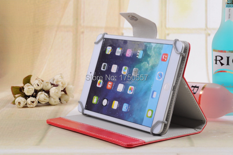 For Visual Land 7/7.85/8/9/10.1 inch Tablet Universal Magnet PU Leather Cover Case+Free Micro USB OTG Cable Free Shipping(China (Mainland))