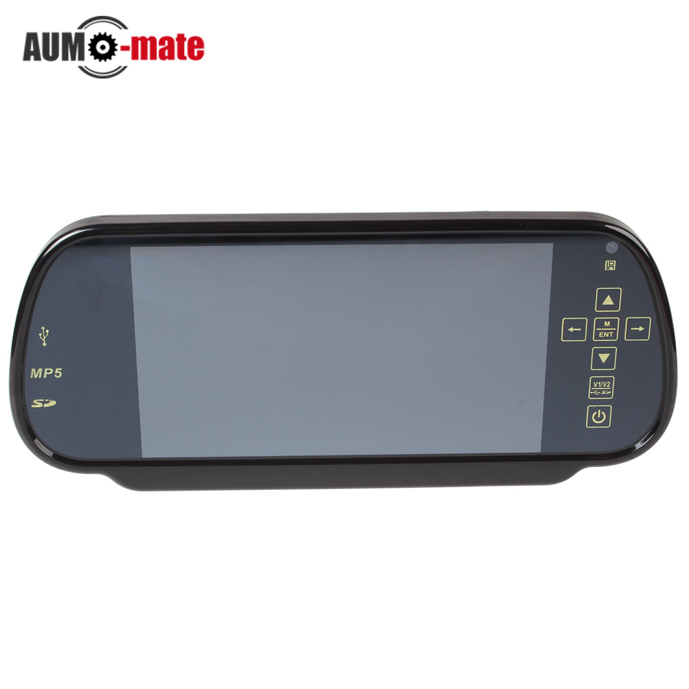 7 inch color tft lcd mp5 car rear view mirror monitor auto. Black Bedroom Furniture Sets. Home Design Ideas