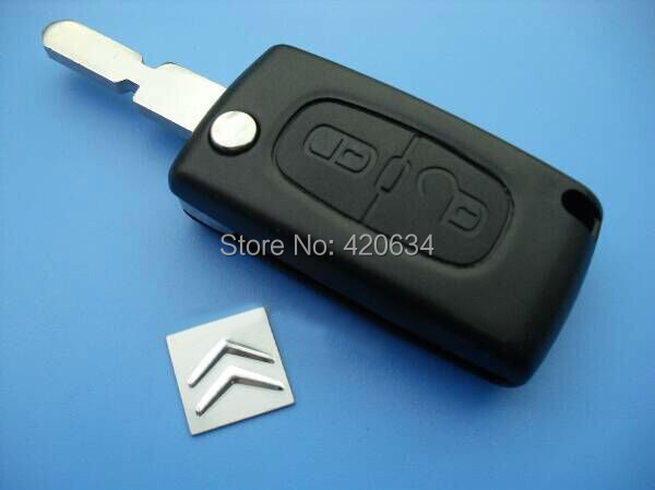 In Stock Car Remote Key Shell Cover Citroen 2 Button Key Case With 406 Blade + Free Shipping <br><br>Aliexpress