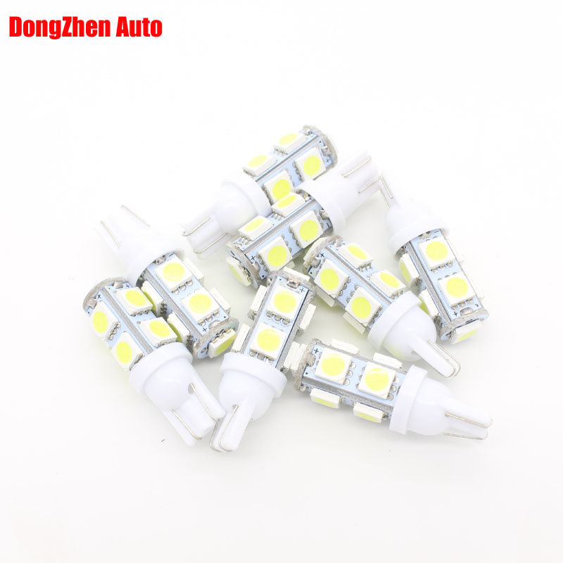 100X 24v Car T10 9 LED W5W Side Wedge Bulb Light Auto 5W5 Interior Dome Festoon C5W C10W Packing DRL Light Xenon Car Styling(China (Mainland))