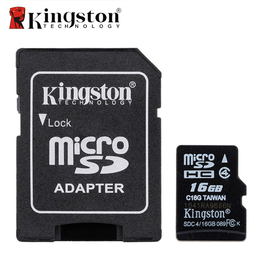 Original Kingston Memory Card Micro SD 16GB Class 4 Microsd TF Flash Card 16 GB Micro SD Card with Adapter for Digital Device(China (Mainland))