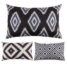 30cm* 50cm Fashion Geometric Decorative Pillowcase Rectangle Throw Pillow Case Linen Cotton Cushion Cover for Sofa Home Decor(China (Mainland))