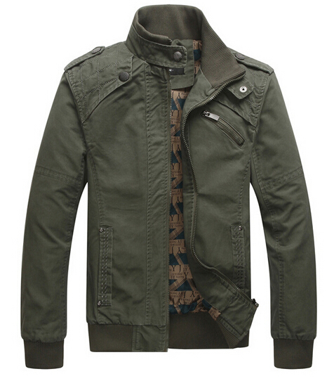 Brand Men Casual Winter Jacket Cotton Stand Collar Coats Army Military Outdoors Men s Male Clothes