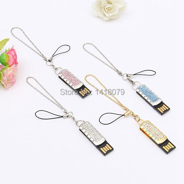 8GB Crystal Swivel USB 2.0 Flash Memory Stick Pen Drive Storage Thumb U Disk Pendrive(China (Mainland))