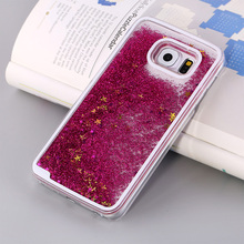 Buy HOT Glitter Bling Dynamic Sand Quicksand Star Liquid Hard Back Cover Clear case Samsung galaxy S5 S6 S6 edge Plus S7 S7 edge for $2.32 in AliExpress store
