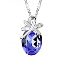 Best-selling Austrian crystal jewelry, fashion dragonfly pendant crystal necklace – B43