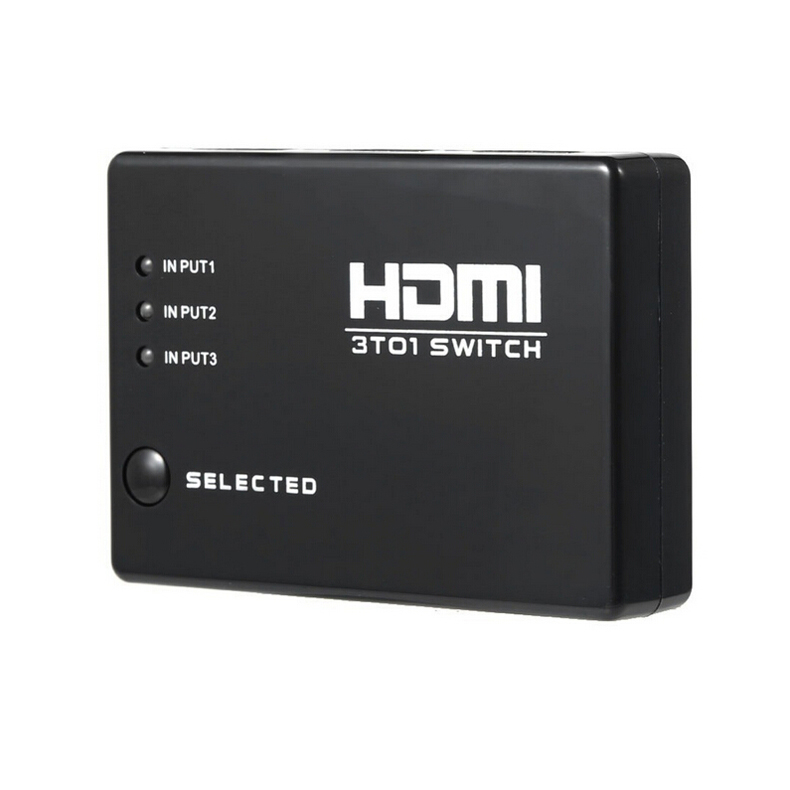 3-Port 1x3 HDMI Splitter Ultra HD Support Full 1080P 3D Signal Distributor with Remote Control(China (Mainland))