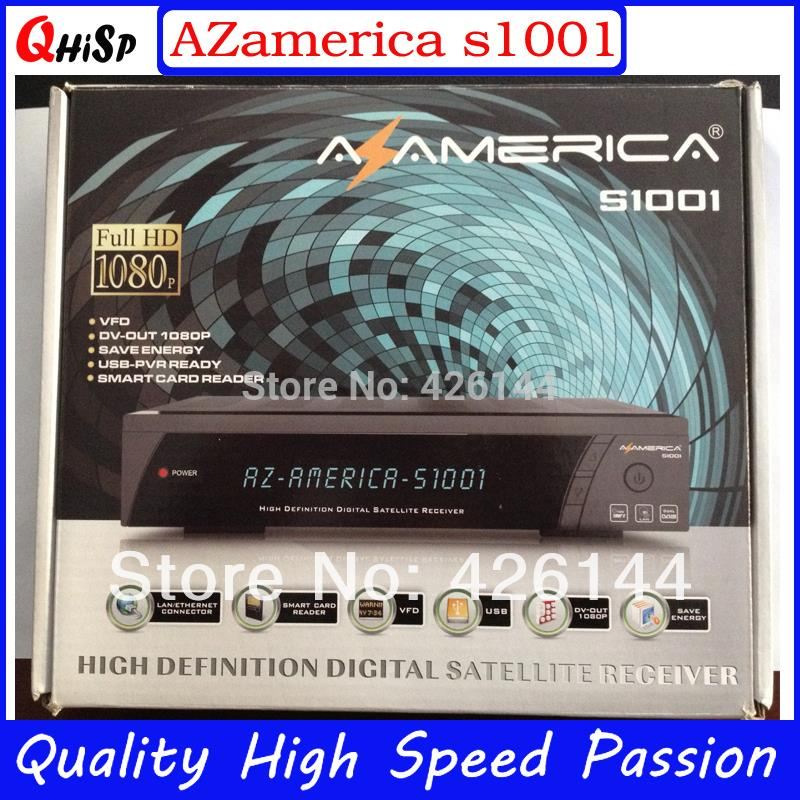Satellite Receiver Shipping New Nagra3 Hd Receiver Azamerica S1001 With Sks,iks Account And Full 1080p For Sourth America Chile(China (Mainland))