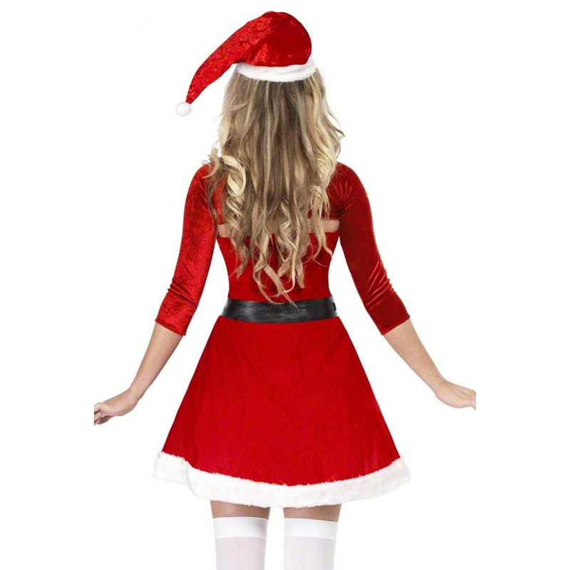 FGirl Christmas Costumes Sexy New Year Adult Halloween Costume One Size Red Santa Belle Costume FG10852