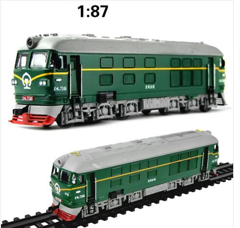 Locomotive Internal combustion Train 50 alloy Diecast pull back music flashing model Electric Simulation kids toys(beibei075)(China (Mainland))