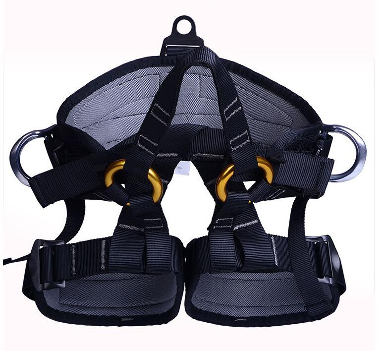 Outdoor Climbing Safety Belt Strength Polyester Harness Half-body Safety Belts for Mountaineering Rock Caving Rescue