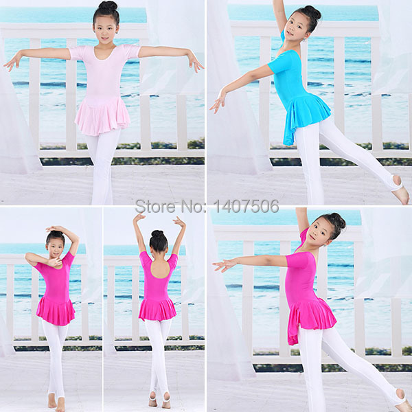 Girl Gymnastics Dance Dress Kids 2 14Y Ballet Tutu Leotard Skirt Skate Dress