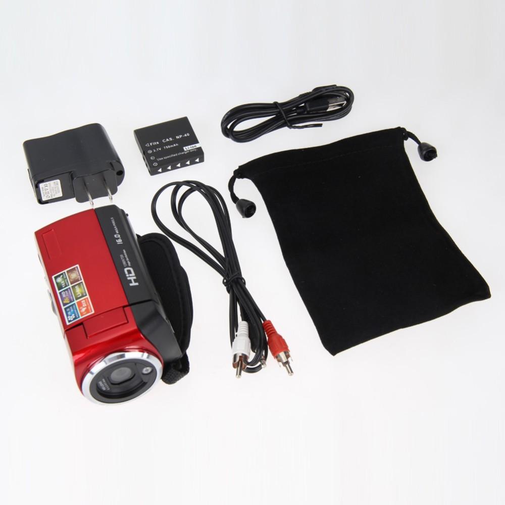 """ถูก 1ชิ้นHD720P 16MPกล้องกล้องวิดีโอดิจิตอลDV DVR 2.7 """"TFT LCD 16Xซูมสีแดงกล้องOD # S"""