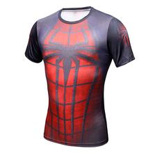 Buy 2017 Spiderman Ironman Superman Captain America Compression Shirt Superhero Soldier Marvel Comics Mens Short T Shirt for $5.97 in AliExpress store