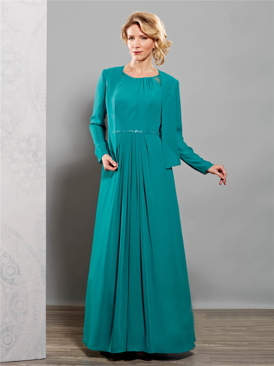 Mother Of The Bride Dresses In Plus Sizes With Sleeves - Wedding ...