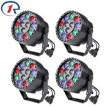 Buy ZjRight 4pc/lot 15W RGBW led Par light DMX512 Sound control LED stage light Concert dyed lights dj ktv bar disco effect lighting for $65.09 in AliExpress store