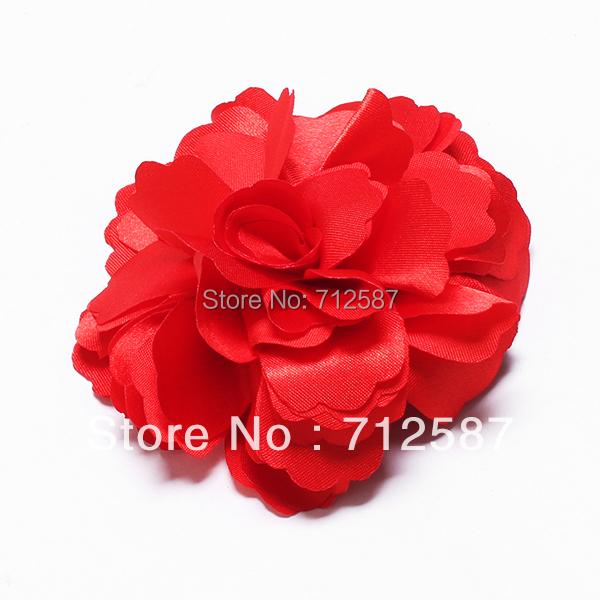 Lady Bridal Satin Peony Flower Hair Clip Brooch 2pcs/lot~free shipping#5170