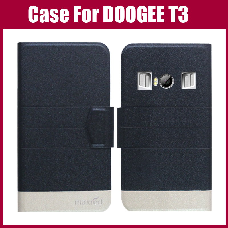 Hot Sale! DOOGEE T3 Case New Arrival 5 Colors Fashion Flip Ultra-thin Leather Protective Cover DOOGEE T3 Case
