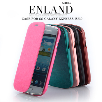 Original Genuine Brand  ENLAND Luxury Leather Slim Flip Wallet Case Stand Cover for Galaxy Express I8730