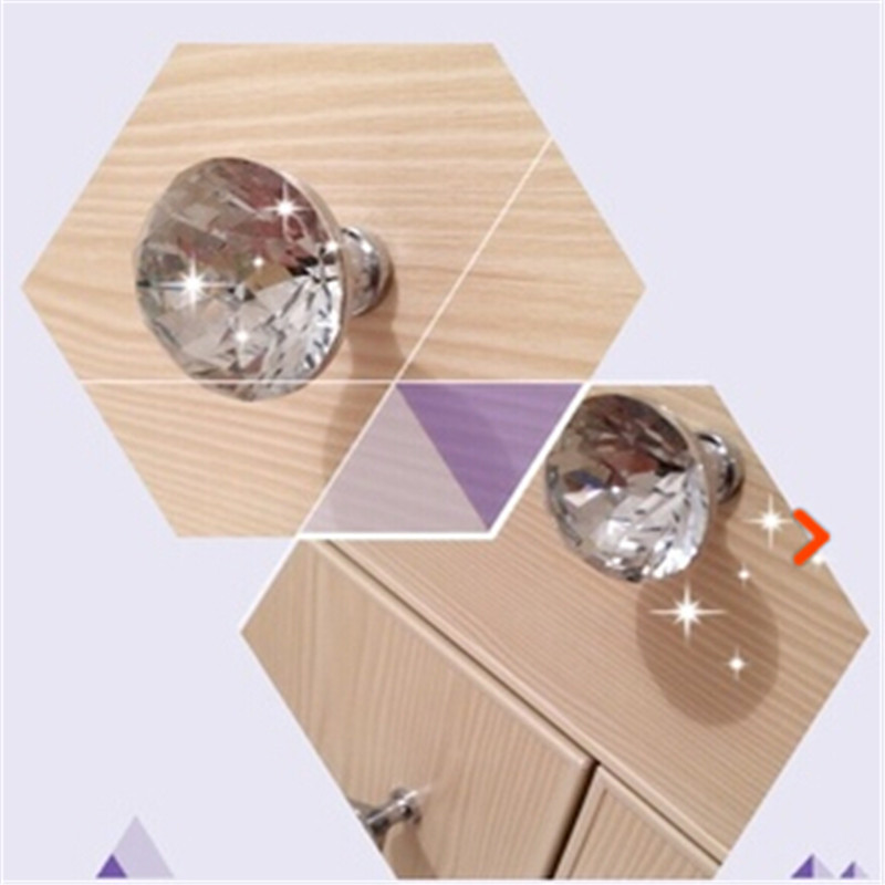 10pcs lot clear glass crystal handles bedroom furniture Handles for bedroom furniture