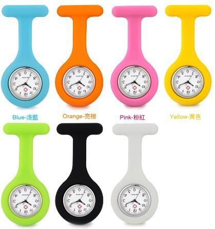 1PC New Fashion Silicone Nurse Watch Pocket Quartz Watch Doctor Men Women Jelly Hanging Pocket Watch Clock Free&Drop Shipping(China (Mainland))
