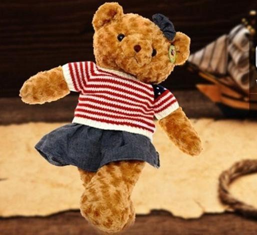 Plush Animals PP Cotton Plush/Nano Doll Bear vintage cowboy big teddy bear plush toy doll 40 cm doll valentine size:40cm 81117(China (Mainland))