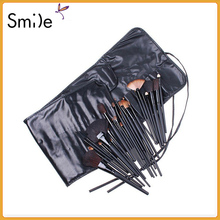 TOP Quality! Professional 32 PCS Cosmetic Facial Make up Brush Kit Wool Makeup Brushes Tools Set with Black Leather Case