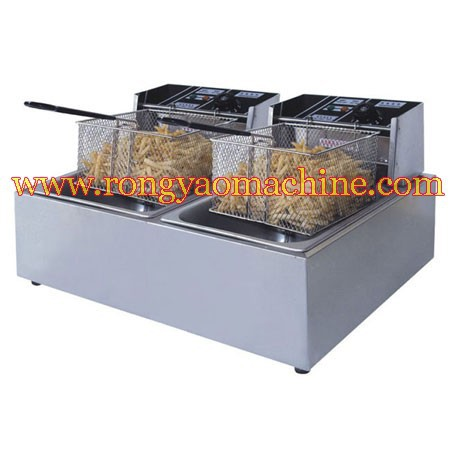 6L*2  electric 1 tank fryer TABLE Counter top electric 1 tank fryer with CE ELECTRIC deep fryer<br><br>Aliexpress