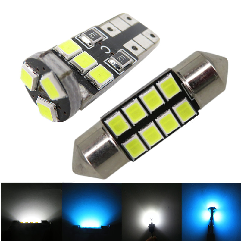 6pcs Car Light 2835 SMD Festoon 36mm C5W W5W T10 LED Lights Interior Bulb Package Deal for Ford Focus 2008 2009 2010 2011(China (Mainland))