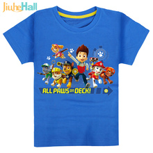 7 Types Hot Sale Kids Cartoon Paw Dog T-Shirts 100% Cotton Patrol Boys&Girls Tee Patrulla Canina Clothing For Kids 2-6 y CMB131(China (Mainland))