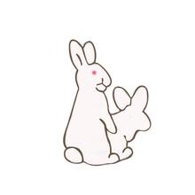 Creativo Conigli Bianchi Spille Male Spilli Per Le Donne della Camicia del Cappotto Animale Coniglio Carota Dello Smalto del Metallo del Sacchetto di Giubbotti Collare Risvolto Distintivo(China)