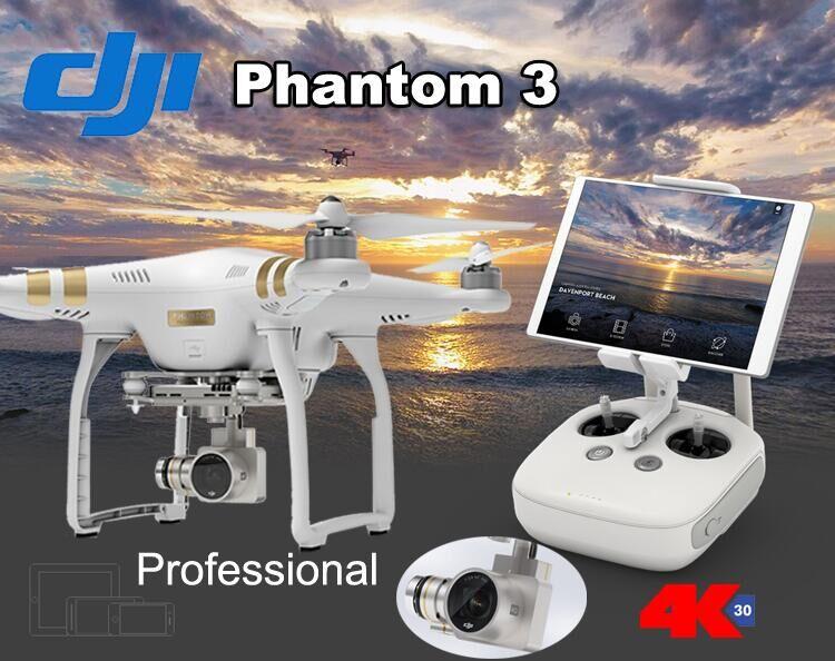 100% Original Dji Phantom 3 Professional Camera Drone FPV RC Helicoper with 4K Camera DHL Free(China (Mainland))