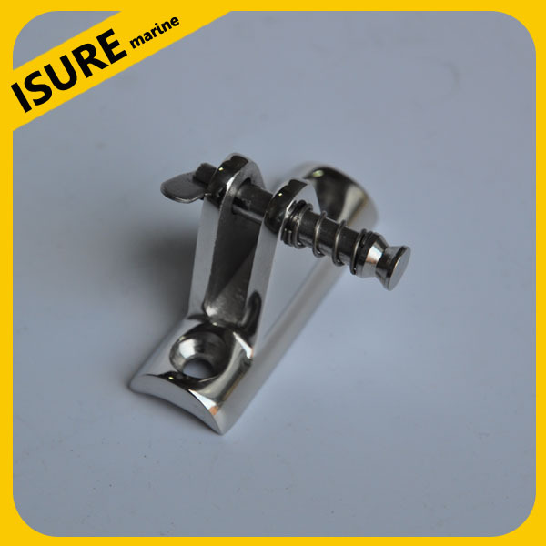 Stainless Steel Boat Bimini rail hinge 90 degree with removable pin(China (Mainland))