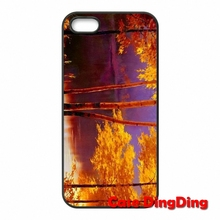 Luxury Autumn Street Oil Painting Apple iPod Touch 4 5 6 iPhone 4S 5C SE 6S Plus Moto X1 X2 G1 E1 Razr D1 D3 - Phone Cases Ding store