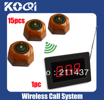 Wireless Service Calling System(full set including 1pcs receiver+15pcs button)