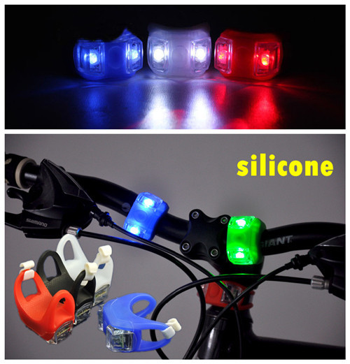 10pcs/lot Bright Bicycle Light MTB mountain bike silicone LED Taillight/ warning lights/flash explosion Front &amp; Rear lights LED<br><br>Aliexpress