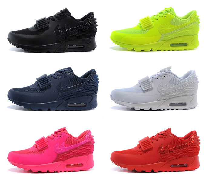 Free Shipping 2015 Air 90 Women And Men Air Yeezy 2 SP Red Black Shoes Sports