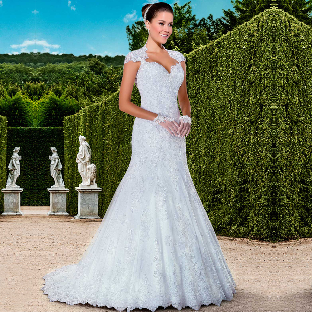 New designer brazil style longo mermaid lace appliques for New wedding dress styles