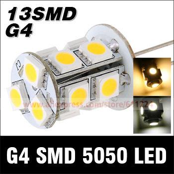 10x DC12V 3W G4 Base 210LM 13 SMD 5050 LED Warm White Light Bulb For Crystal Light Bulb Lamp Energy Saving(China (Mainland))