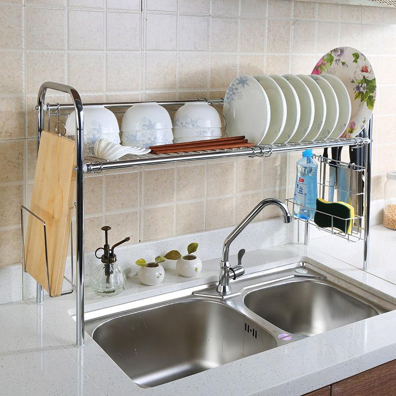 304 stainless steel dish rack wall rack wall-mounted bowl rack chopsticks cage drain rack shelf | Hearth and Heart | Pinterest | Dish racks Rack shelf and ... & 304 stainless steel dish rack wall rack wall-mounted bowl rack ...