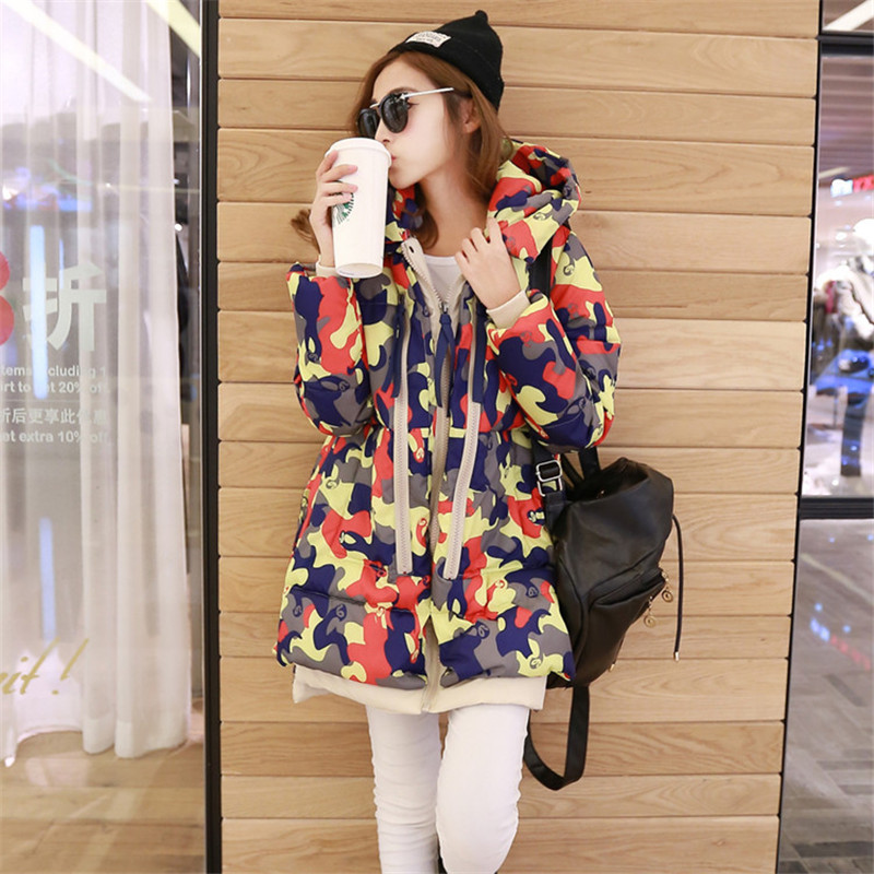Women Winter Jacket New Camouflage Down Cotton Long Thick Coat Female Outerwear Hooded Padded Lady Down Parka Plus Size LQ079Одежда и ак�е��уары<br><br><br>Aliexpress