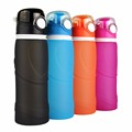 Hot 750ML Creative Portable Leakproof Folding Water Bottle Kettle Cup Outdoor Travel Sport Silicone Foldable Water