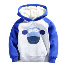 wholesale high quality children clothing boys thick outfit winter mixed size hoodies creeper sweatshirt kids jacket2y-7y tops(China (Mainland))